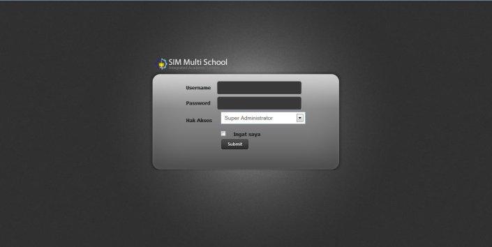 Tampilan Masuk Ke Sistem MultiSchool