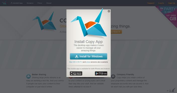 Copy.com - Install Apps