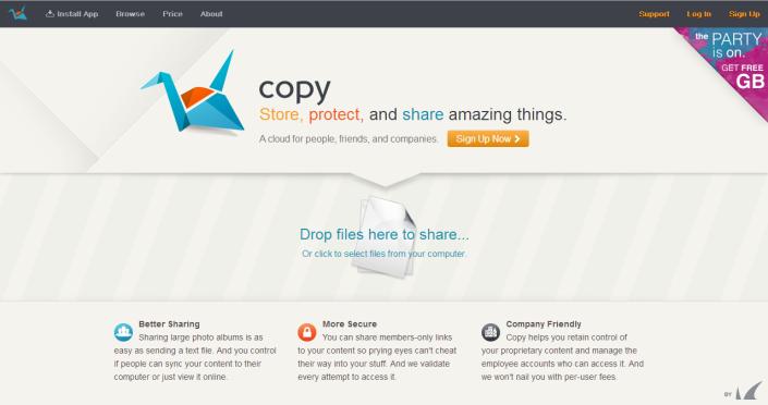 Copy.com - Cloud Storage Service