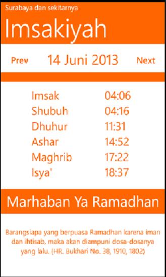 Imsakiyah Schedule - Ramadhan Pedia