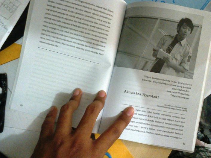 Aktivis Kok Ngerokok! Salah satu materi favorit saya di buku ini