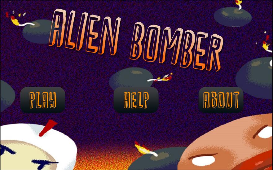Tampilan Awal Alien Bomber