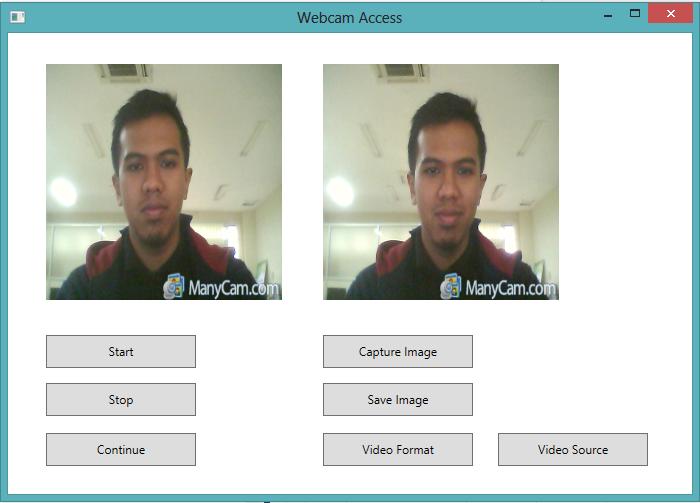 Tampilan Webcam Capture