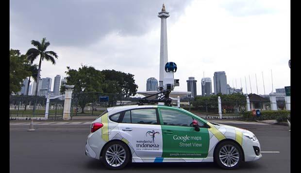 Mobil Google Map Street View - diambil dari http://www.tempo.co/read/news/2013/07/10/072495265/Google-Maps-dengan-Navigasi-Hadir-di-Indonesia